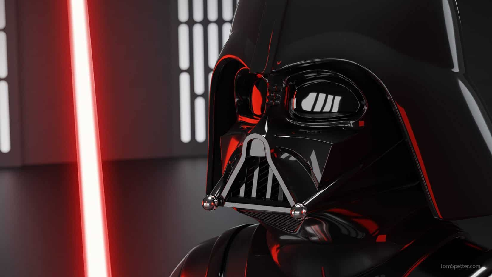 A Blender 3D render of The dark lord of the sith, Darth Vader.