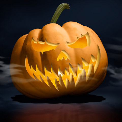 Jack-o-lantern Photo Illustration.